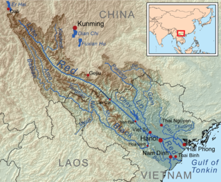 Red River (Asia) River in southwest China and northern Vietnam