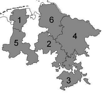 Province of Hanover - Regierungsbezirke in the Province of Hanover in 1905