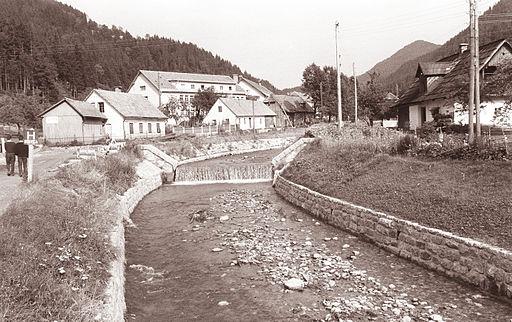 Reka Meža v Črni na Koroškem 1961