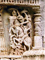 Relief depicting battle scene in the Amruteshvara Temple at Amruthapura in Chikkamagaluru district.jpg
