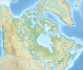 Map showing the location of Four Corners, Canada