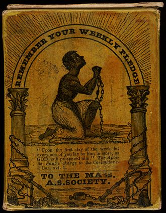 Abolitionism in the United States - Collection box for the Massachusetts Anti-Slavery Society, circa 1850