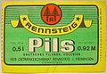 Rennsteig Pils, Deutsches Pilsner II, VEB GK Rennsteig-Meiningen Werk Meiningen Etikett (DDR).jpg