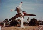 Republic XF-84H Thunderscreech Republic XF-84H, 51-17059-FS-059 on display at Bakersfield Airport, Sept 1982 (16334977112).jpg