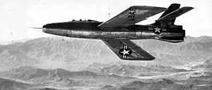 Republic XF-91 Thunderceptor - XF-91 Thunderceptor during testing