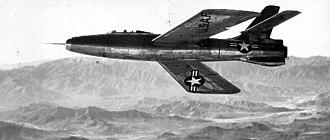 Republic XF-91 Thunderceptor - XF-91 Thunderceptor during testing