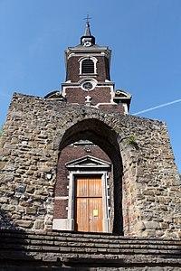 Reste d'architecture militaire devant l'église de Haccourt (1) - 62079-CLT-0003-01.JPG