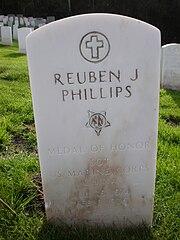 Reuben J. Phillips headstone.JPG