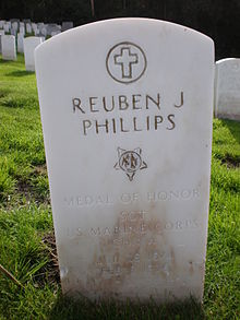 Reuben J. Phillips headstone.JPG