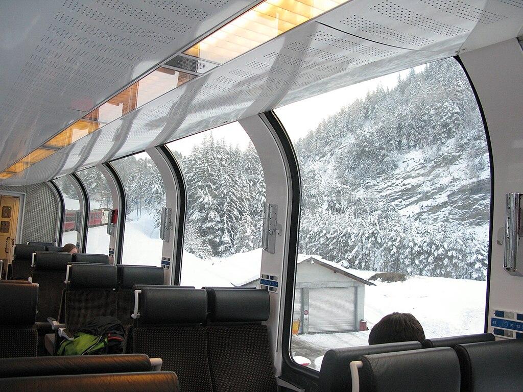 Interior del Bernina Express