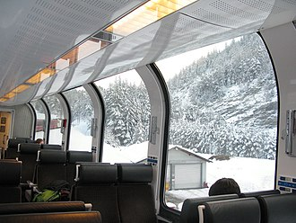 Bernina Express - Inside the Bernina Express