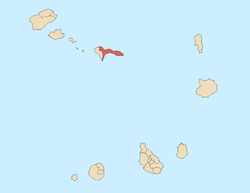 Location of Ribeira Brava