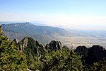 View of a ridge from the Sandia Crest Trail.