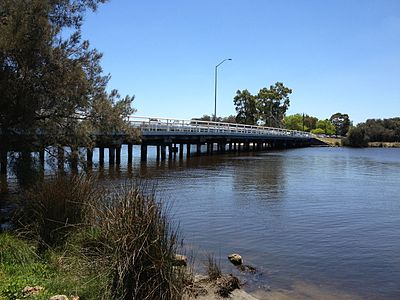 Riverton Bridge, which spans the Canning River between Riverton and Wilson, both suburbs of Perth.