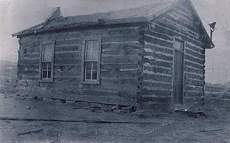 Emery County, Utah - Moore, Utah school house circa 1912.