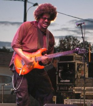Rocky George - George, performing with Fishbone  in France, August 2005.
