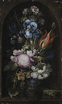 Roelant Savery - Bouquet of Flowers in a Stone Niche - KMS1520 - Statens Museum for Kunst.jpg