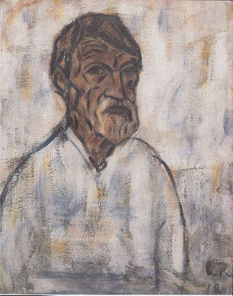 Christian Rohlfs - Christian Rohlfs, self-portrait (1918)