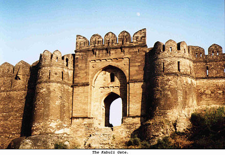 Raja Todar Mal, an ally of Sher Shah Suri, constructed the Rohtas Fort to check Humayun from Persia, and also halt the local Muslim tribes from joining the claimant emperor. Rohtas Fort Magnificent Kabuli Gate.jpg