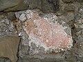 Roman concrete with reddish plaster in the wall at Rheinbach, Eifel Aqueduct, Germany (8114130394).jpg