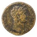 Romerskt mynt med Hadrianus, 125-128 - Skoklosters slott - 100266.tif