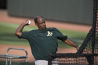 Ron Washington - Washington coaching the Oakland Athletics