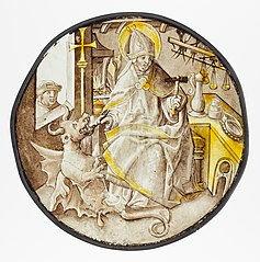 Roundel with Saint Dunstan of Canterbury