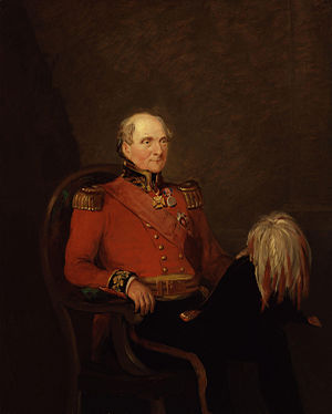 Rowland Hill, 1st Viscount Hill - Hill ready for the annual Waterloo anniversary banquet at Apsley House in 1836