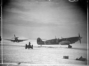349th Squadron (Belgium) - Spitfire Mark IXCs of No. 349 (Belgian) Squadron, 1943-4.