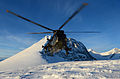 Royal Navy Sea King Helicopter Carrying out Arctic Trials.jpg