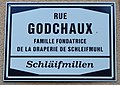 Rue Godchaux Schlaïfmillen street plate.JPG