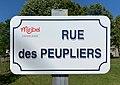 Rue des Peupliers (Miribel, Ain, France) juin 2019 (panneau de rue) .jpg