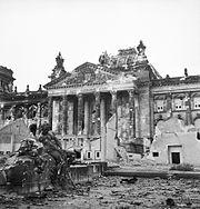 Ruins of the Reichstag in Berlin, 3 June 1945. BU8573