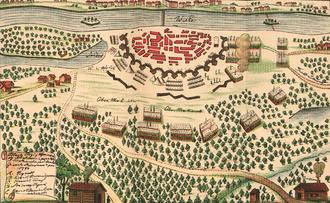 Battle of Praga - View of Russian assault on Praga