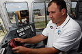 Ryan Newman driving a crawler-transporter at Kennedy Space Center KSC-08PD-1767 (NASA).jpg