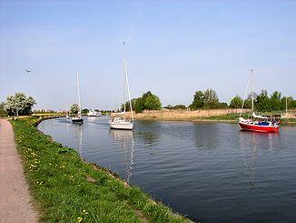 Boat trip on the Ryck near Wieck