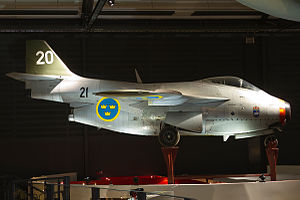 Saab 29 Tunnan - SAAB S 29C 'Tunnan' on display at Swedish Air Force Museum, Linköping