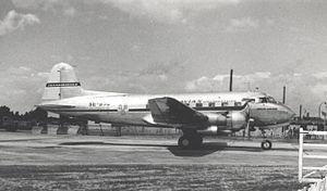 Saab 90 Scandia - Saab Scandia of SAS at London Airport (Heathrow) in May 1953