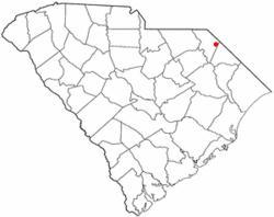 Location of Clio in South Carolina