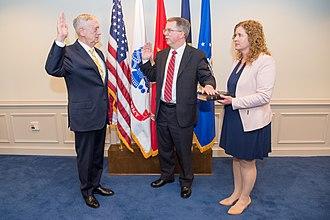 David Norquist - Norquist being sworn in by Secretary of Defense Jim Mattis on June 7, 2017.