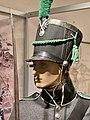 SKARPSKYTTER Bergenhusiske skarpskytterbataljon 1814 Lærdal Voss (Rifleman Danish-Norw. Army) Grå uniform sjako gamasjer rifle bajonett etc Bergenhus festningsmuseum Museum Bergen Norway 6757.jpg