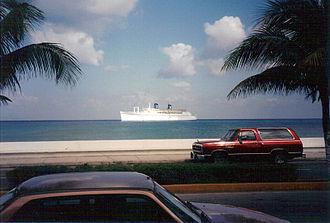 SS Monterey - Britanis tendering at Grand Cayman.