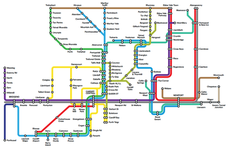 South Wales Metro - Proposed South Wales Metro network