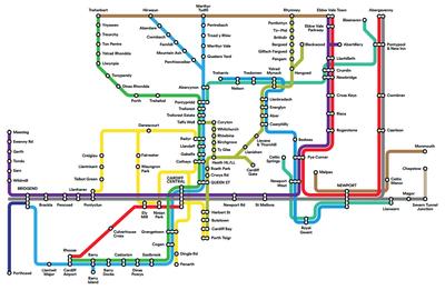 Cambridge Subway Map.South Wales Metro Wikipedia