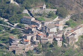 An aerial view of Sablières
