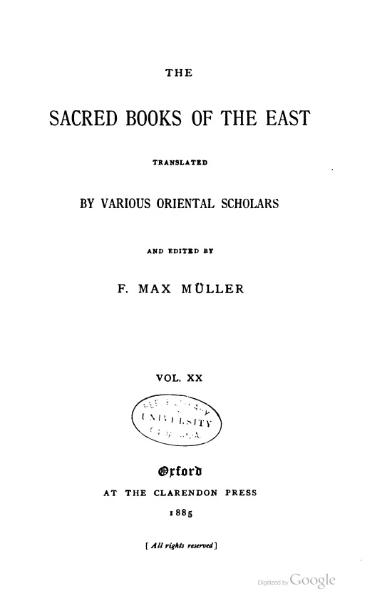 File:Sacred Books of the East - Volume 20.djvu