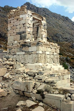 Greek hero cult - Ruins of a hero-shrine or heroon at Sagalassos, Turkey