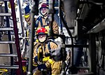 Sailors in firefighting gear for main space fire drill aboard USS Anchorage (LPD-23) 190105-N-PH222-1161.jpg