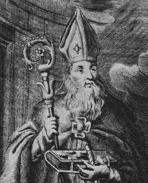 Bystrík - Saint Bystrík from Ungaricae Sanctitatis Indicia 1692