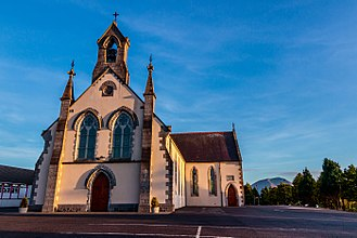 Crossmolina - View of Saint Tiernans Church located in Crossmolina